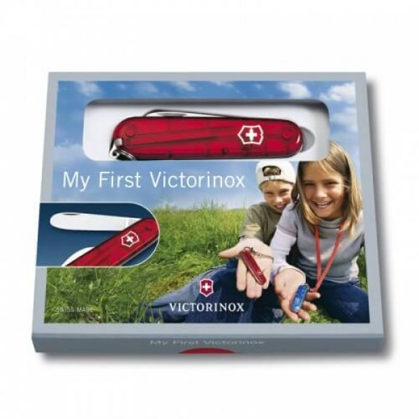 Victorinox Lommekniv Model My First Victorinox - Victorinox Schweizerkniv til børn i rød farve