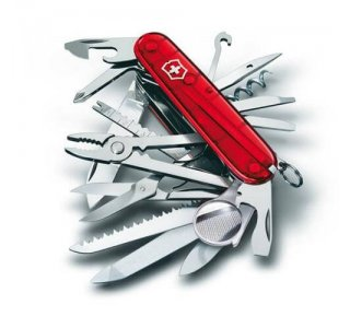 Victorinox Lommekniv Swiss Champ Transparent