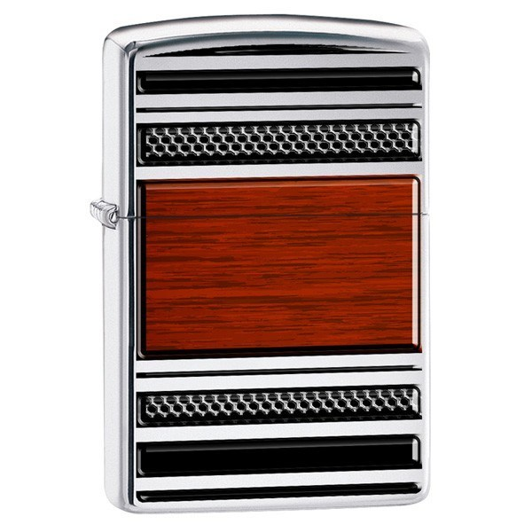 Zippo Lighter (Pibelighter) Steel and Wood