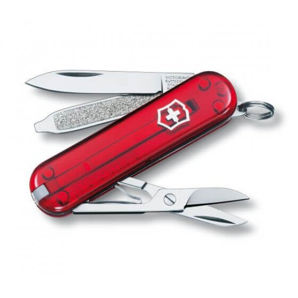 Victorinox Lommekniv Classic SD, Red Transparent