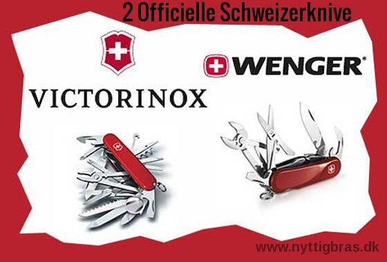 Datidens 2 officielle schweizerknive Victorinox og Wenger