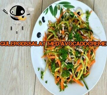 Sund og mættende gulerodssalat med avocadocreme