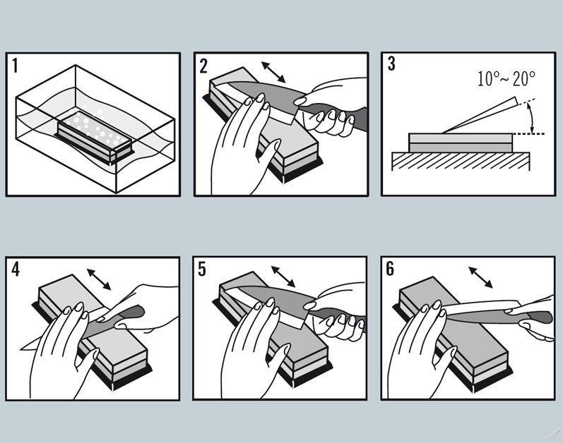Guide - Sådan sliber du japanske køkkenknive på en slibesten