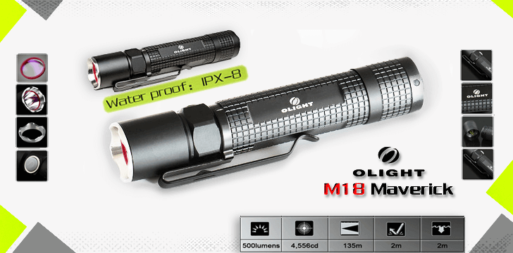 Olight-LED-Lommelygter-Banner-Information