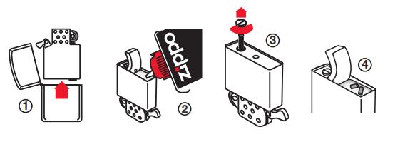 Trinvis guide til udskiftning af sten i en Zippo lighter