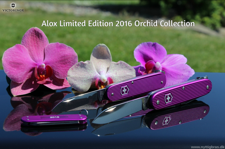 Victorinox Alox Limited Edition 2016 Orchid sæt med 3 schweizerknive