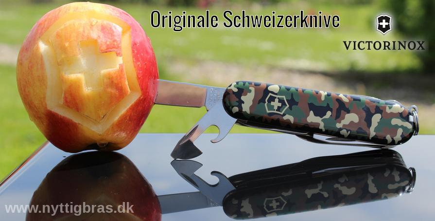 Victorinox Lommekniv Huntsman Camouflage og udskæring i æble