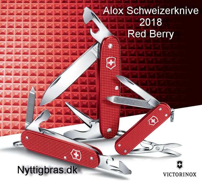 Schweizerknive Alox Red Berry 2018 fra Victorinox