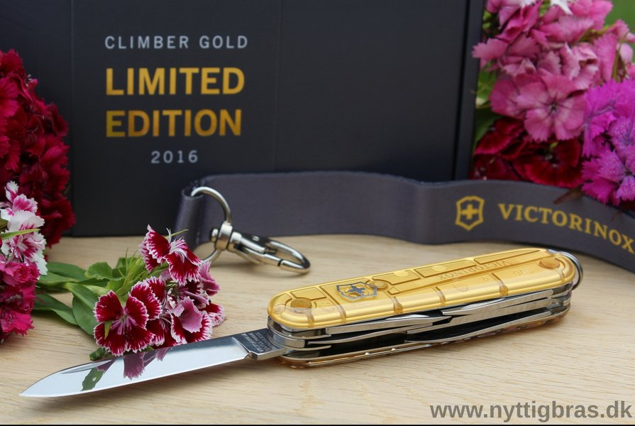 Victorinox Schweizerkniven 'Climber Gold Limited Edition 2016' med blomster