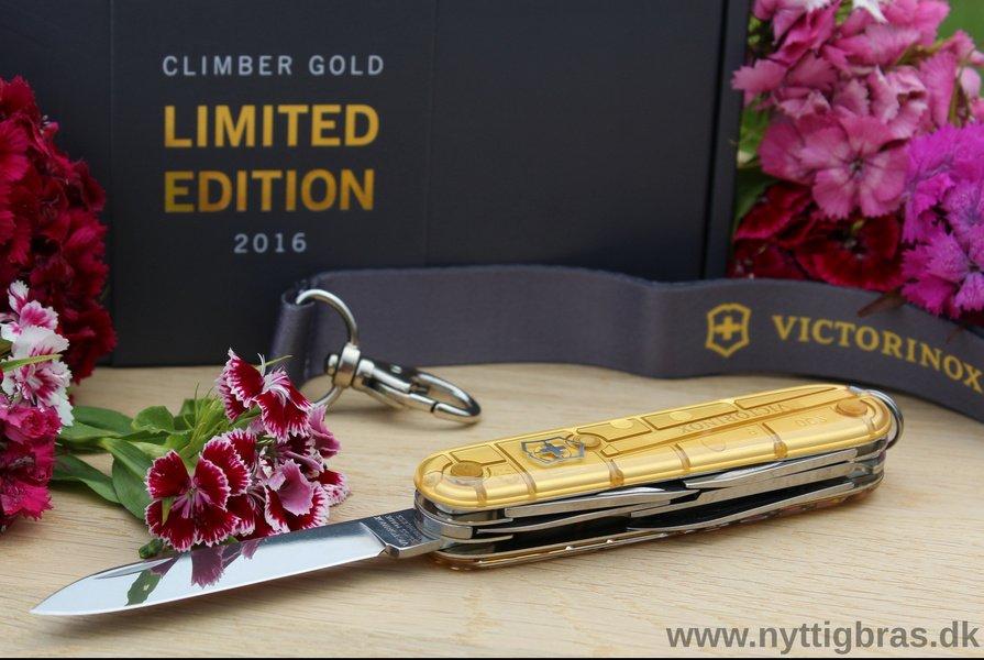 Victorinox Schweizerkniven 'Climber Gold Limited Edition 2016' med blomster