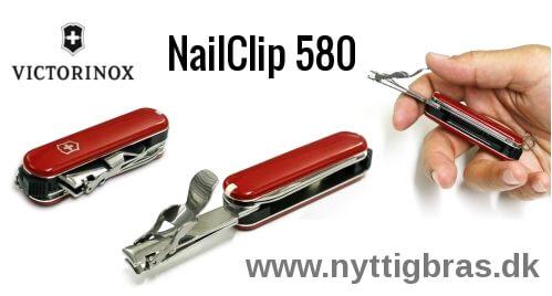 Yderst kompakt lommekniv med negleklipper