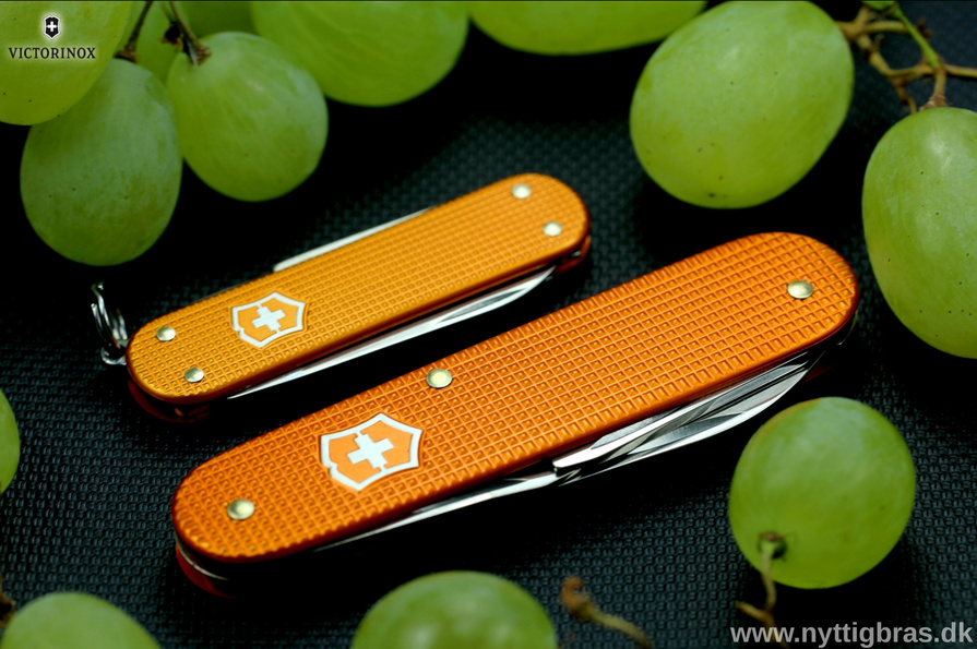 Victorinox Cadet Alox Orange Limited Edtion med vindruer