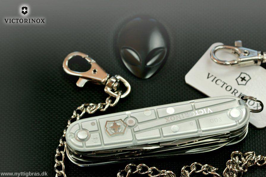 Victorinox Schweizerkniv Huntsman Silver Tech med keychain